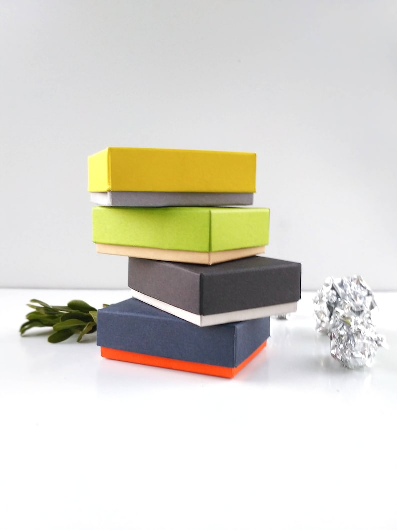 100 Pcs Jewelry Box Small Gift Boxes Jewelry Packaging Colorful Boxes Earrings Boxes 2 1 4 1 3 4 3 4