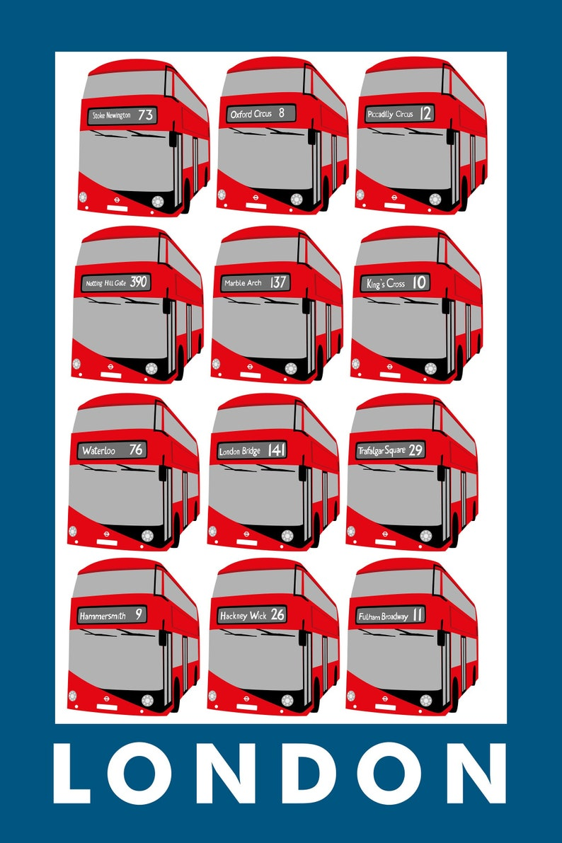 London Bus The London Collection Teatowel