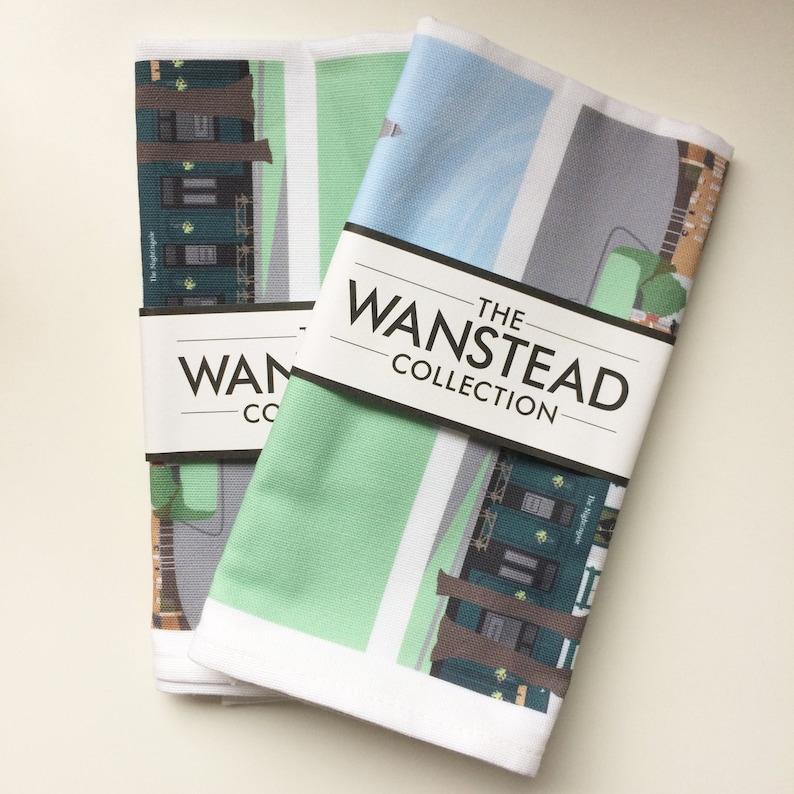 Nightingale Lane Wanstead Collection Teatowel Sold Indiviually image 0