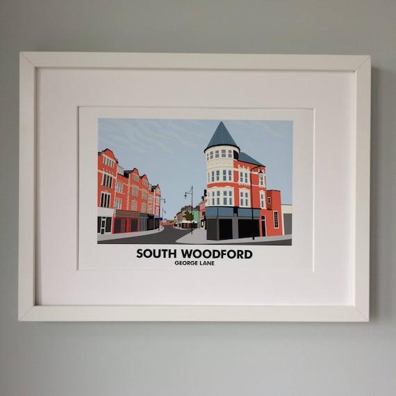 ec9513a4b9ef South Woodford George Lane A4 Print