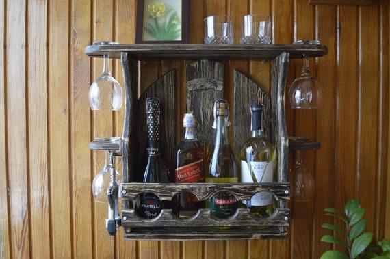 Beautiful Wooden Wine Rack Home Bar, Wine Cabinet Bar Furniture