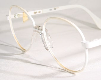 7a839739da Kids  MENRAD Vintage German 1980 s White Round Old School Eyeglass Frames  Old Stock New Girls Geek Chic Retro Children s Glasses Eighties