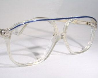 dc303170371 Unworn KV DESIGN True Vintage 1980 s Clear See-Thru Plastic Aviator Eyeglass  Frames Old Stock New Kids  Children s Size Small Spring Hinges