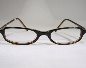 50d10aa966 Women s Unworn 1990 s ANDREW ACTMAN Brown Layered Plastic Oval Optical Eyeglass  Frames Glasses Size S for Small Reading Readers Spectacles