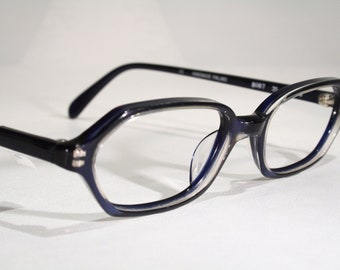 418980e2b81 Finnish POINT Unworn Vintage Late 1980 s 80s Nordic Design Translucent Blue  Scandinavian Women s Plastic Optical Eyeglasses Glasses Frames