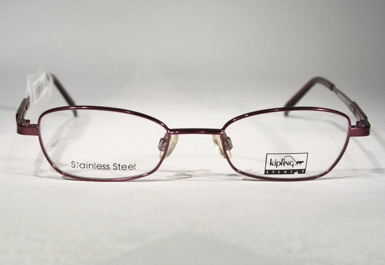 Women's Glossy Purple Pink KIPLING Eyewear K249 Vintage 1990's Slim Small Lensed Eyewear Eyeglasses Glasses Frames Size Medium 47 19 135
