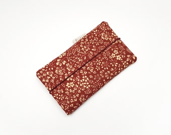 Mobile phone bag made of fabric | | for all sizes Flowers | Iphone 11/XR/X | samsung galaxy S20 u.v.m Bordeaux red