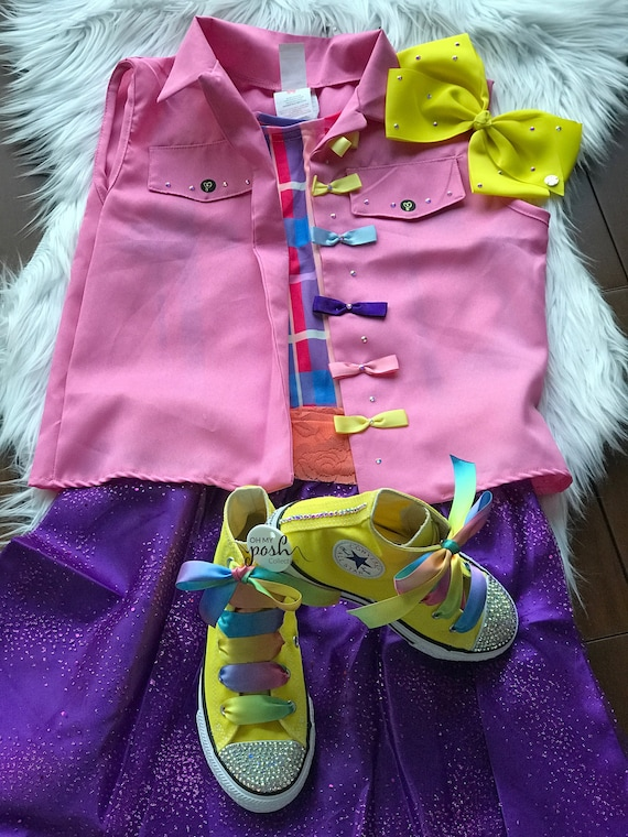 JoJo Siwa DREAM Tour Costume JoJo Siwa Halloween Party Shoes, JoJo Siwa Birthday Costume,Halloween Inspired outfit and JoJo Siwa Ultimate