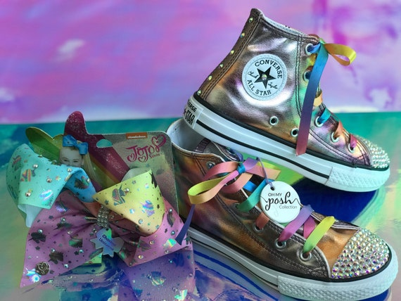 Jojo Siwa JoJo Siwa Birthday Inspired Custom Converse Shoes  4f7e988a9