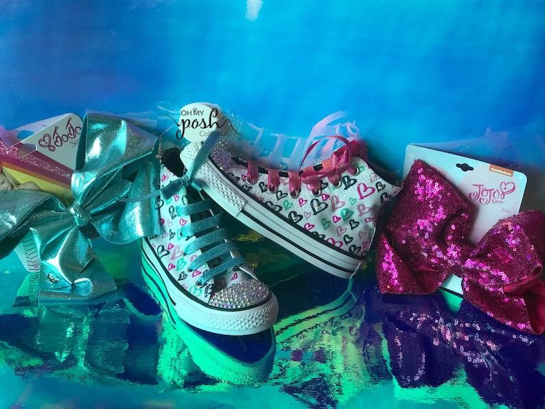 3edd39d6b75b Jojo Siwa Inspired DREAM Tour Custom Converse Shoes and