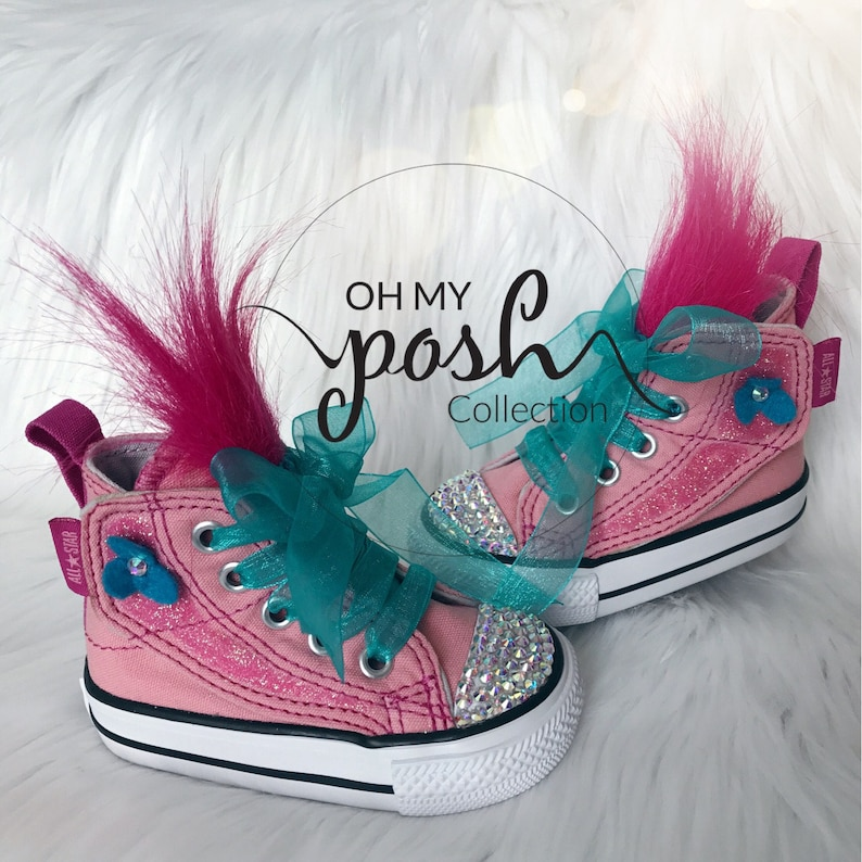 6180906d5877 Trolls Poppy Birthday outfit Trolls Birthday Converse Shoes