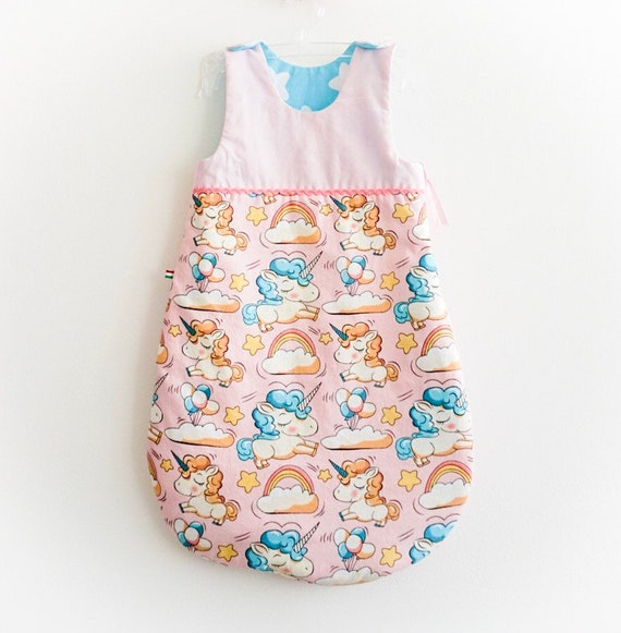 11dbbbf0d012 Unicorn baby girl sleeping bag Pink turquoise