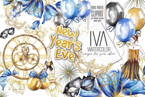 new years clipart new years party clipart new years eve etsy etsy