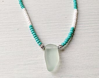 The Beach Hut Necklace - Turquoise