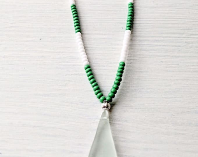 The Beach Hut Necklace - Green