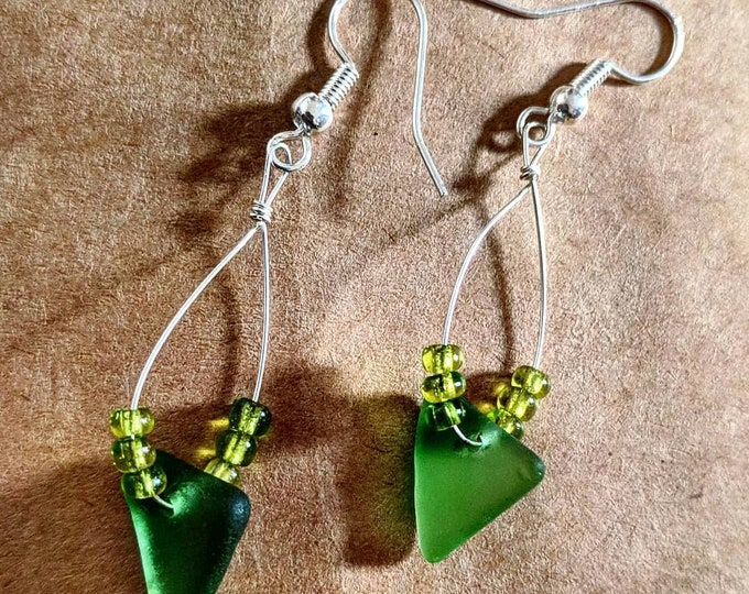 Seaweed Envy Hoop Earrings
