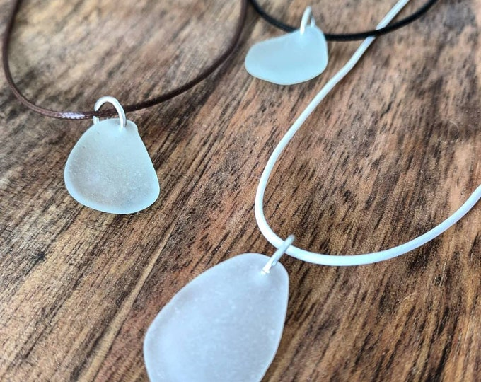 Simple Sea Glass Necklace