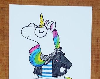 "Unicorn Postcard ""Believe in Yourself"""