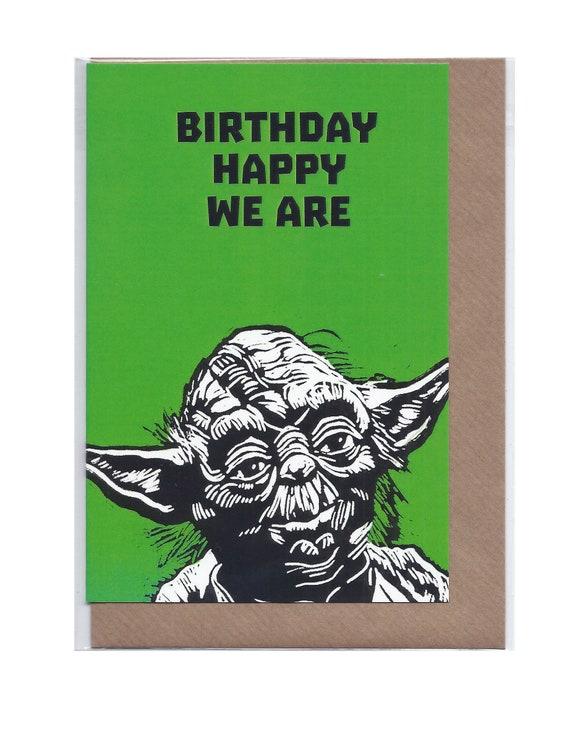 Yoda Geburtstag A6 Karte Etsy