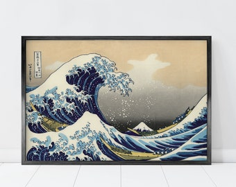 Great Wave Off Kanagawa Print, The Great Wave Print, Mount Fuji Japanese Poster, Oriental Wall Art, Japanese Wave Print, Japanese Art Print
