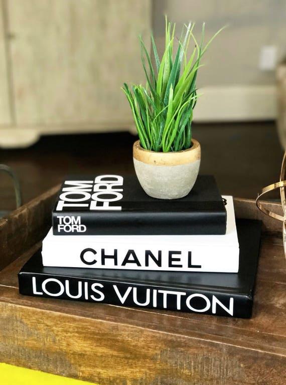 3 Grosse Bucher Schwarz Weiss Designer Buch Set Chanel Etsy