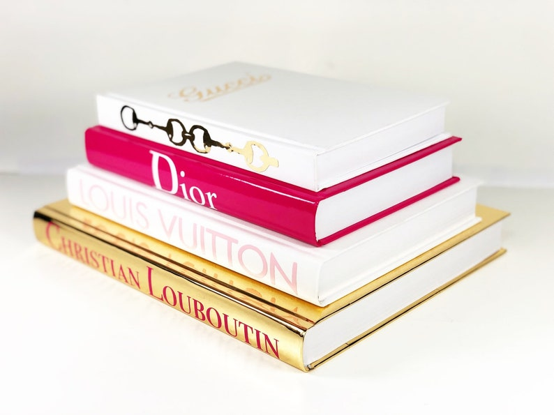 fdd59ed8390b 4 BOOKS Gold Pink White DESIGNER BOOKS Prada Louis