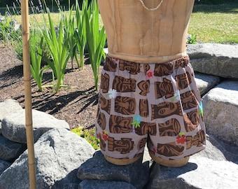 Tiki, Boxers, Hawaiian, Tropical, Boxer Shorts
