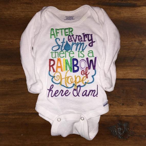 ac833ad65 After every storm rainbow baby onesie custom boy girl | Etsy