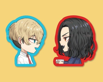 """STICKERS   Tokyo Revengers Weatherproof Matte Bajifuyu Baji Keisuke Chifuyu Matsuno 2"""" Stickers"""