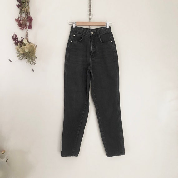 GITANO high waisted 90s black denim straight jeans