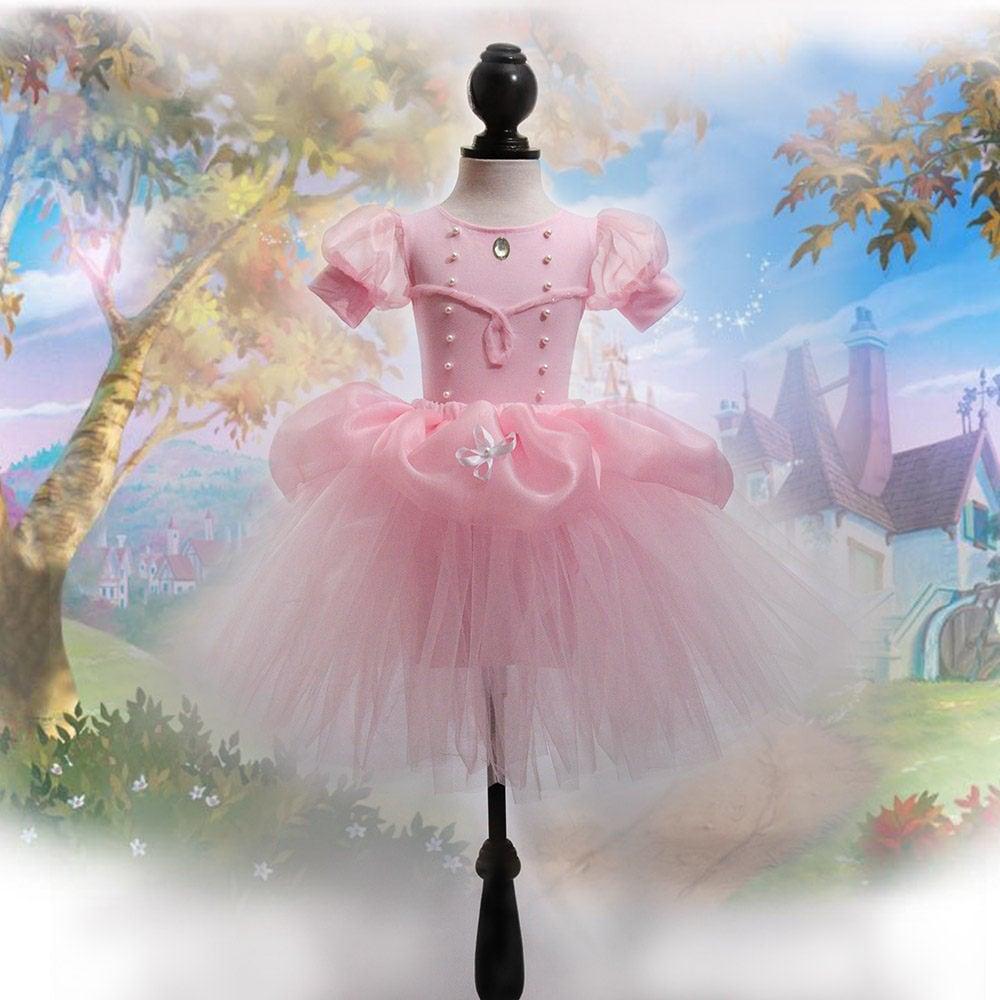 Vestido rosa de Princesa para niña personalizado de algodón y