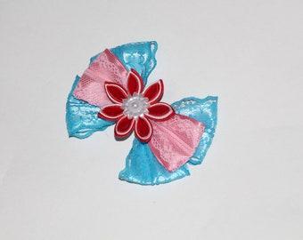 Lilo and Stitch Hair Bow Ohana Lilo inspired hairbow RTS Lilo /& Stitch Accessories Split Disney Mini bows Scrump Pudge Kanzashi Bows red