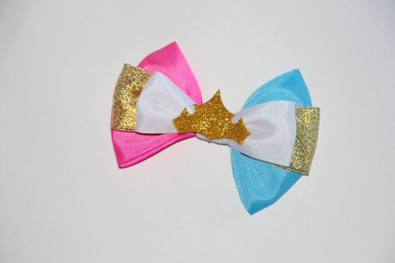 Baby Bow Sleeping Beauty Headband Girls Hair Bow Blue Pink Disney Bound Bow Disney Hair Bow Disney Bow Hair Clip Sleeping Beauty Bow