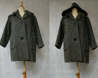 Japanese Wool Coat with Hood
