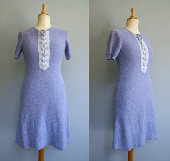 1930s Lavender Terry Cloth Dress
