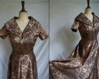Late 1940s Rose Gold Gown