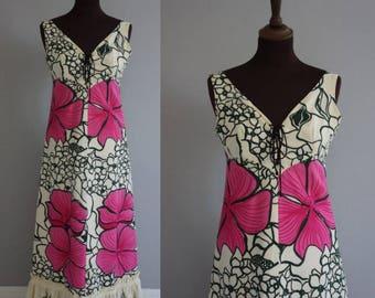 Late 1960s Maxi Garden Dress / Vintage Summer Dress