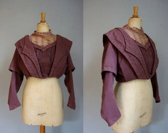 Dusty Pink Late Victorian Bodice