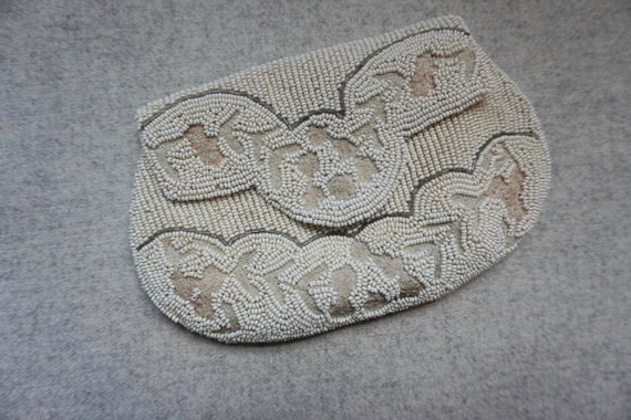 1930s Beaded Bag / Pouch for Belt