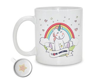 I Love Unicorns | Spirit Animal | Unicorn Mug | Unicorn Lover | Unicorn Gift