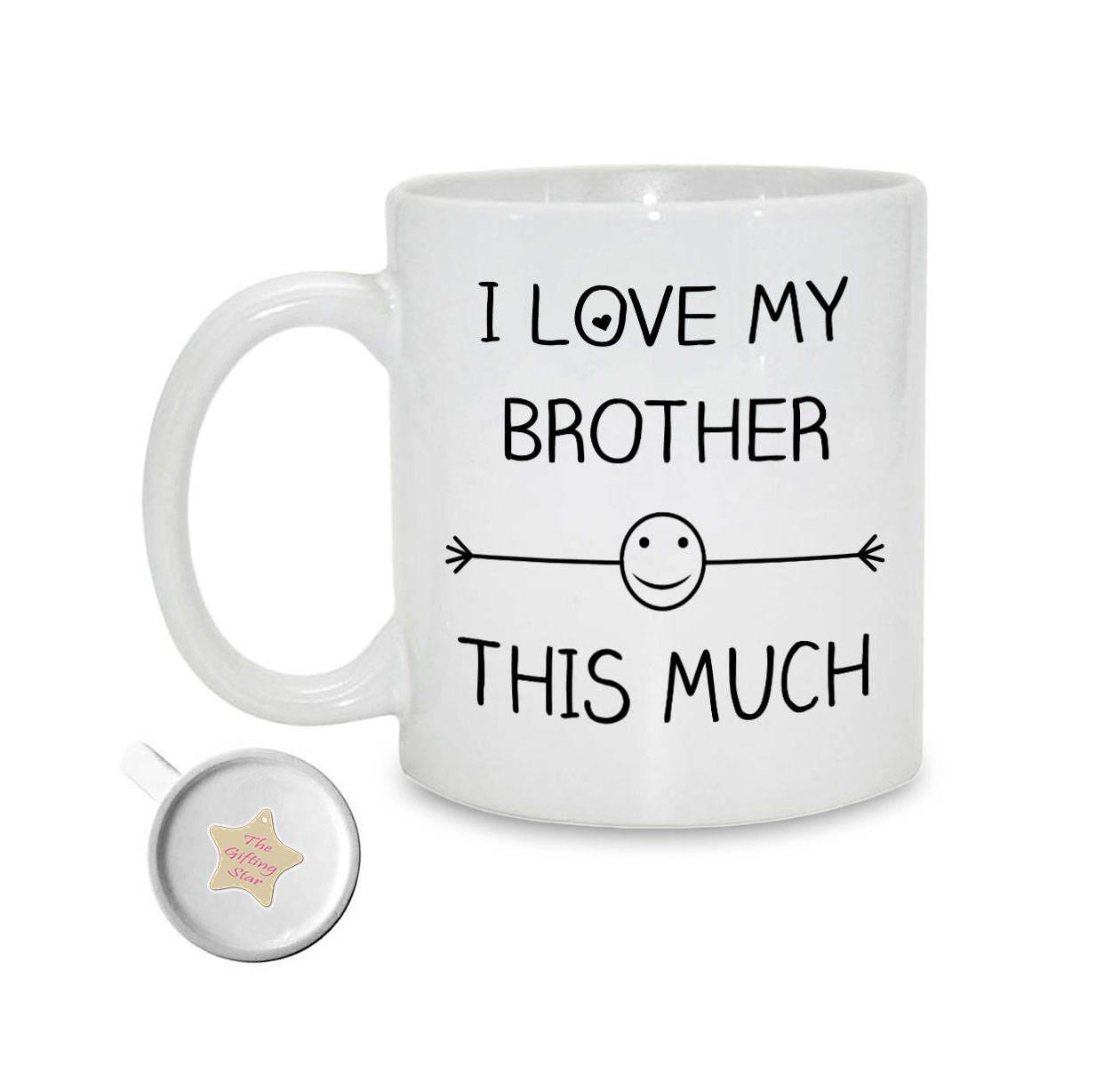 Ich liebe mein Bruder dieses viel Geschenk für Bruder | Etsy