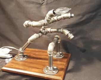 High Hurdles Pipe Lamp - Pipe Art