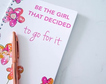 Weight Loss Planner l Food Diary l Meal Planner l Be The Girl That Decided To Go For It