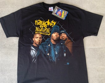 a2689fc61112 Vintage 1993 Naughty by Nature Deadstock Rap T shirt Tour NBN