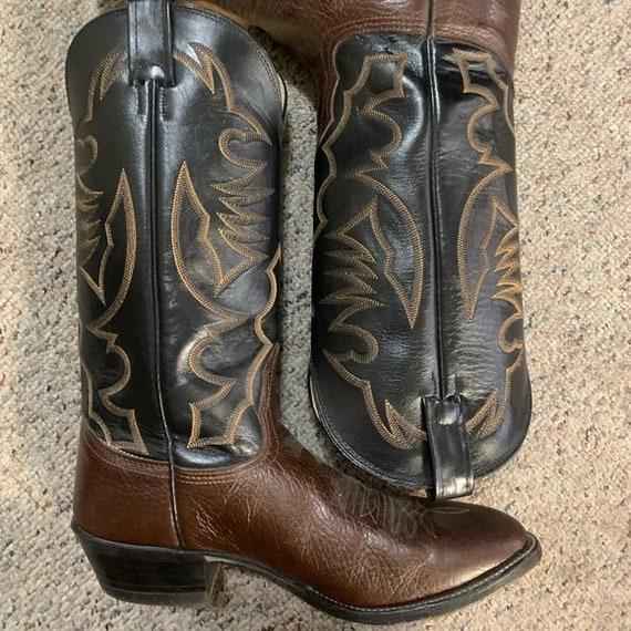 Vintage Nacona Bullhide Cowboy Boots Sz 9 western