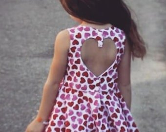 Girls Rainow Sequin Dress with Back Heart Cut
