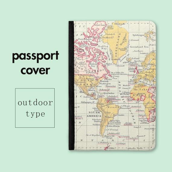 World Map Passport Holder.Passport Holder World Map Passport Cover Travel Gift Etsy