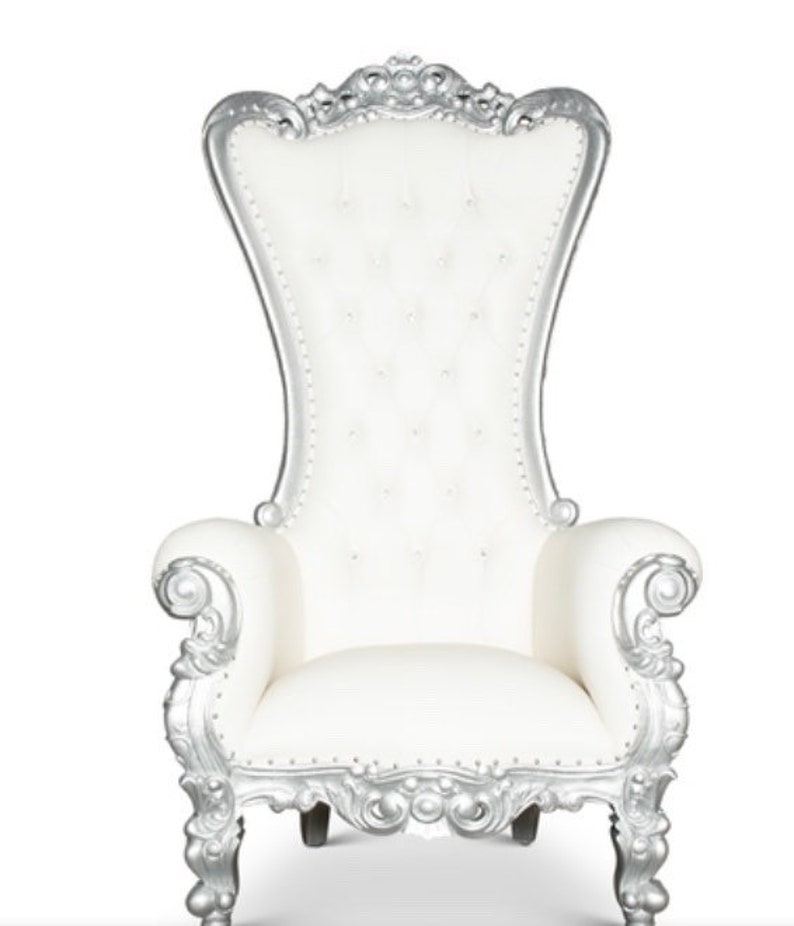 Stupendous White And Silver Throne Chair French Chair Throne Ibusinesslaw Wood Chair Design Ideas Ibusinesslaworg