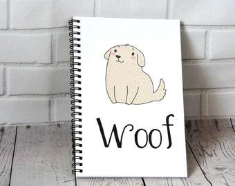 Cute Dog Journal - Blank Journal, spiral journal, notebook, journal notebook, writing journal, sketchbook, diary, cute journals, teen gift