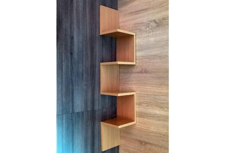 Houten Plank Voor Aan Muur.Hoek Plat Up 6 Boekenplank Muur Planken Hoek Planken Etsy